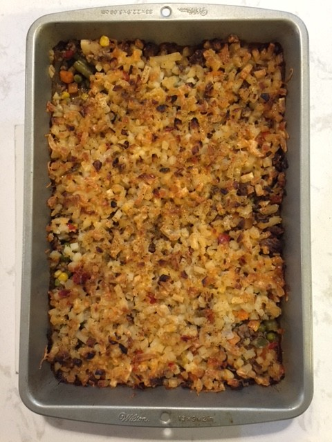Hamburger Hash Brown Casserole from Thriftyjinky - a hit!