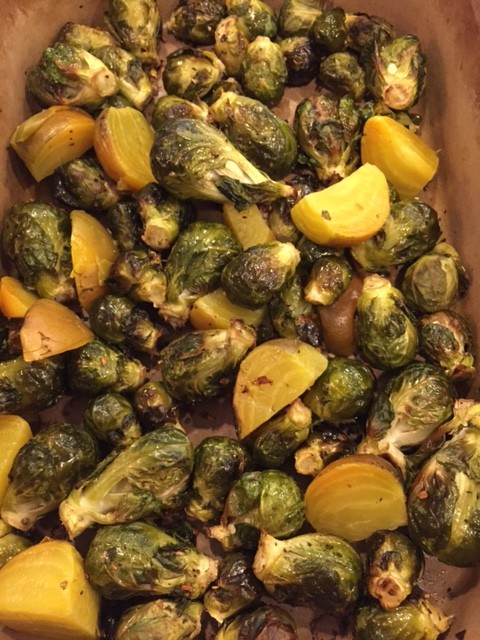 Season of Thankfulness: Brussel Sprouts and Golden Beets (Free ...