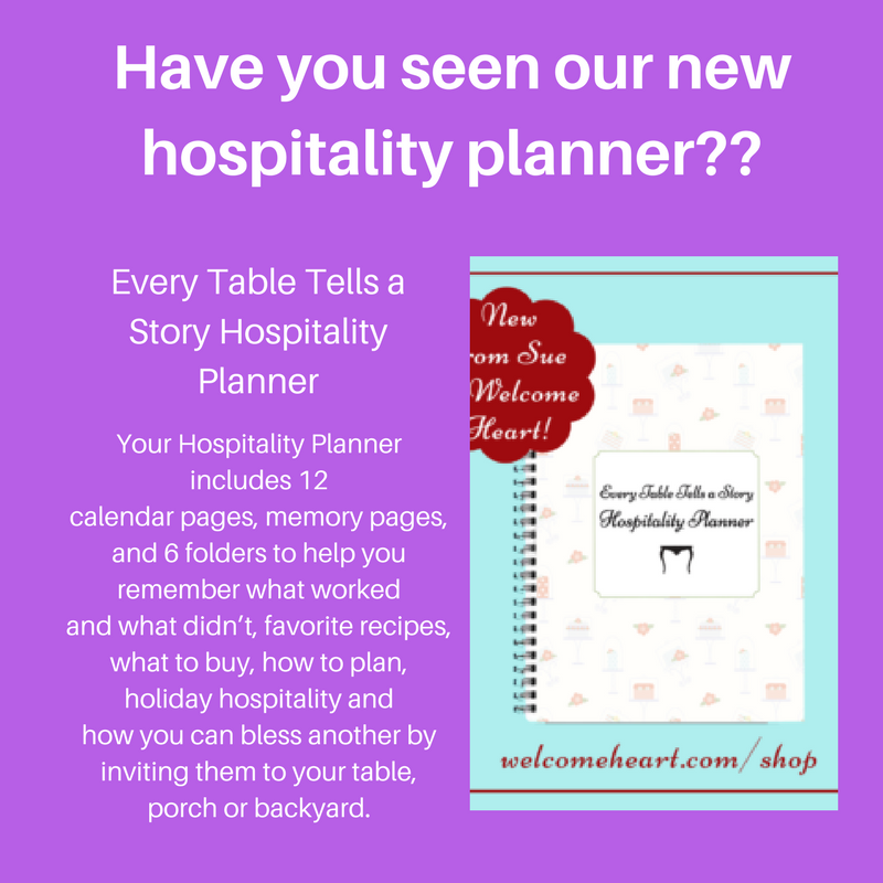 Every Table Tells a Story Hospitality Planner: