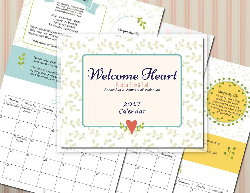 The Endurance of Hospitality–Becoming a Woman of Welcome Wall Calendar 2017