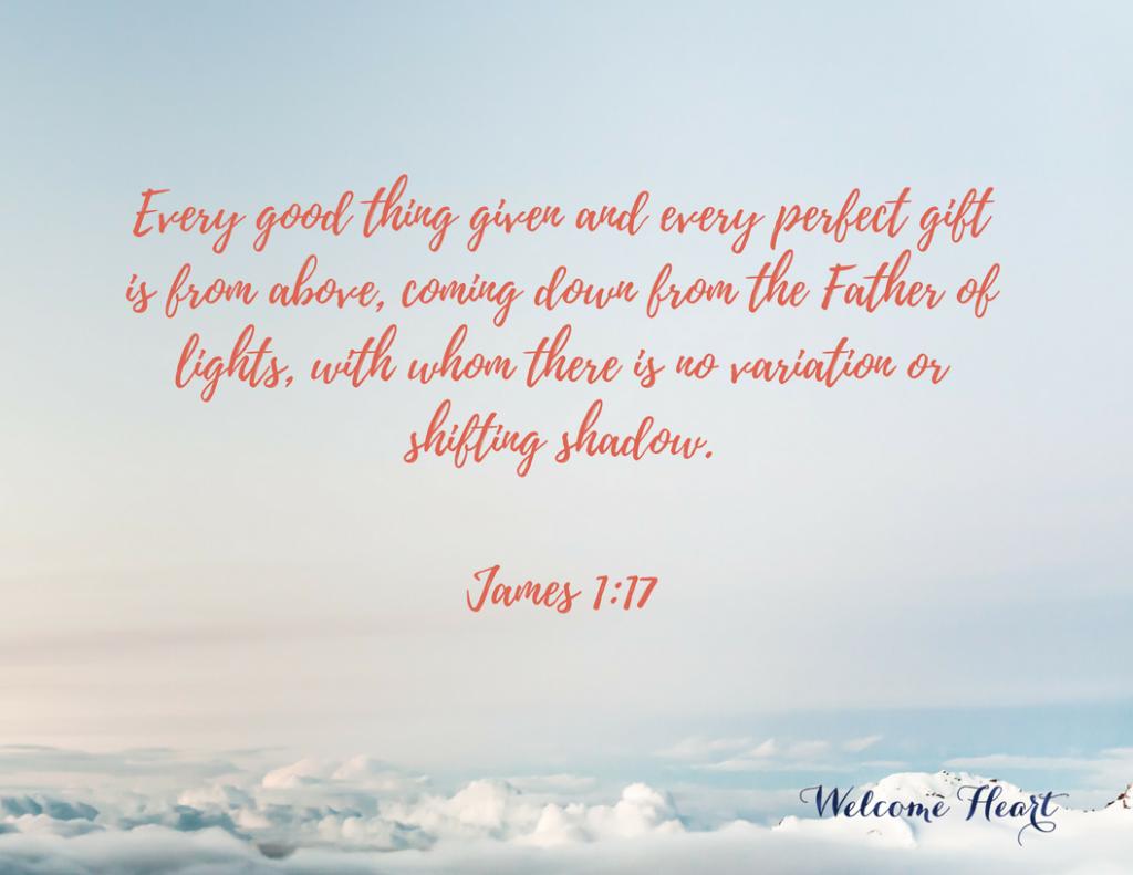 James 1:17 Printable Welcome Heart