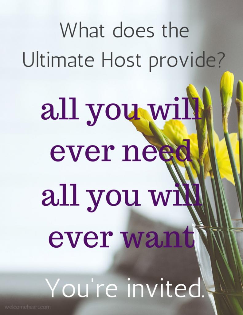 The Ultimate Host... is Jesus. #freeprintable #hospitality